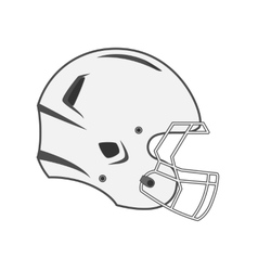 Design of white football helmet vector
