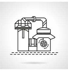 Line icon recycling plant vector