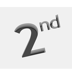 2nd number design vector