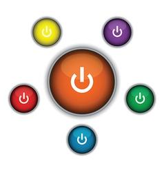 Orange on button vector