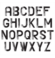 Black alphabet set vector