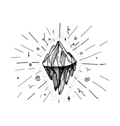 Mountain iceberg peak vector