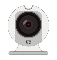Hd webcam icon vector