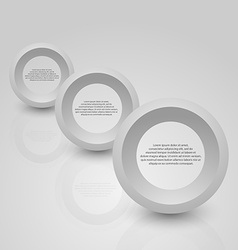 Abstract background of grey circle vector image