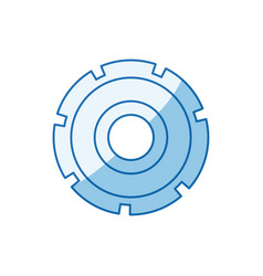 blue color shading silhouette gear wheel icon vector image vector image