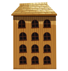 Building made of wood vector
