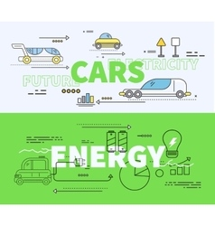 Car of future energy electricity vector