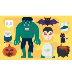 cartoon Halloween Elements vector image