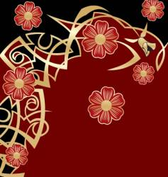 classy floral vector image vector image