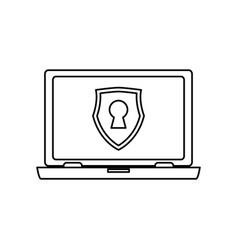 computer lock security privacy vector image vector image