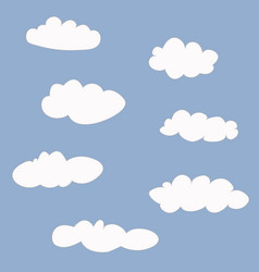 cute clouds icons set vector image vector image