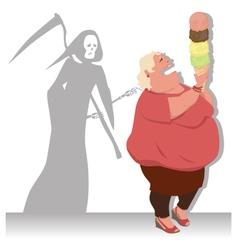Dangerous diet vector image