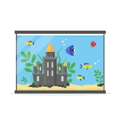 Glass Aquarium for Interior Home vector image vector image