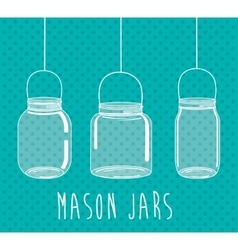 Jar mason fashion glass vector