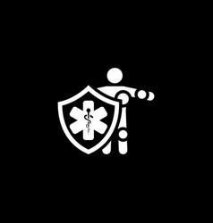 Life insurance icon flat design vector