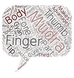 Mudras for good health text background wordcloud vector