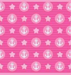 pink pattern the anchor for textile or card vector image