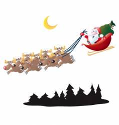 Santa in his sleigh vector image vector image