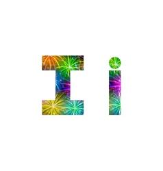 Set of letters firework I vector image