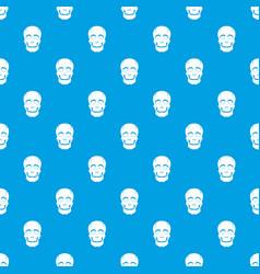 Singer mask pattern seamless blue vector