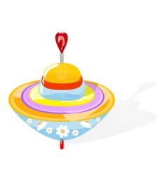 Spinning top vector