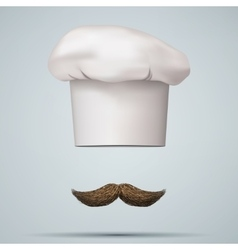 Symbol of chef cap toque and mustache vector image