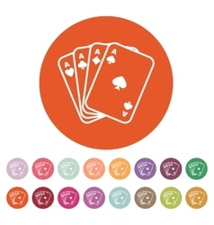 The Ace icon Playing Card Suit symbol vector image vector image