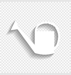 Watering sign white icon with soft shadow vector