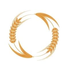 wheat ear badge icon vector image