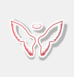 Wings sign new year reddish vector