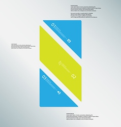 Bar template consists of three color parts on blue vector