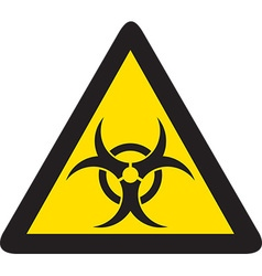 Biohazard sign icon vector