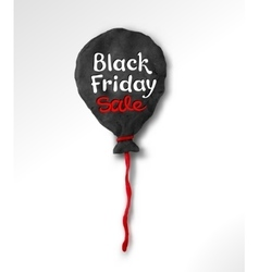Black Friday lettering and plasticine balloon vector image