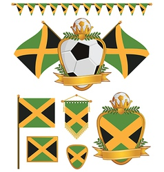 Jamaica flags vector