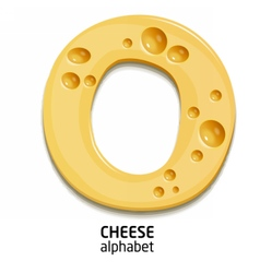 Cheese alphabet letter vector