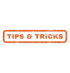 Tips  tricks rubber stamp vector