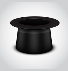 Black cylinder hat on white background vector