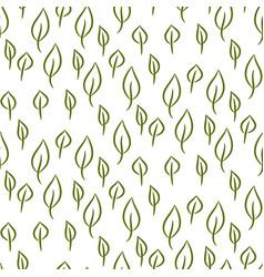 Foliage line seamless pattern vector