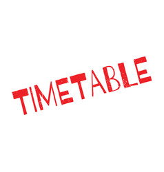 timetable rubber stamp vector image