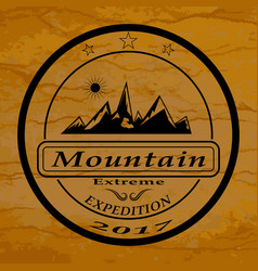 Mountain expedition logo vector