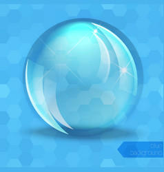 Glass glossy sphere vector image