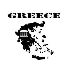 Symbol of greece and maps vector