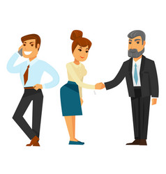 Businessmen and businesswoman in formal clothes vector