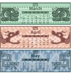 Calendar 2014 Spring vector image