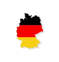 Germany flag map with shadow effect vector image
