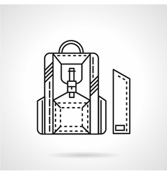 Line icon for school knapsack vector