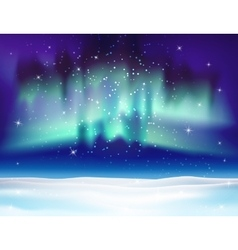 Northern lights background vector