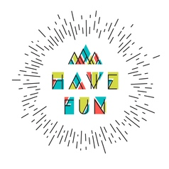 Have fun abstract icon vector