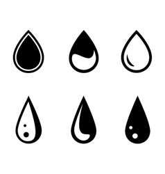 Isolated water drops set vector