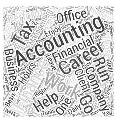 Accounting finance careers word cloud concept vector